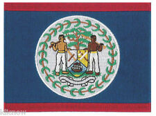 "Belize (embroidered) Country Flag Patch 12 X 9CM (4 3/4"" X 3-1/2"")"