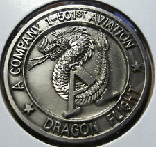 """Challenge Coin US Army A Company 1-501st Aviation Dragon Flight 1.50"""" 256"""
