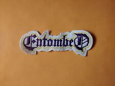 ENTOMBED,SEW ON PURPLE AND YELLOW EMBROIDERED PATCH