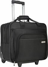 Laptop Case Rolling Wheel Black Briefcase Computer Travel Business Bag Trolley