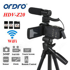 "FULL HD 1080P 24MP 16xZOOM 3""LCD Digital Videocámara DV Remoto+Tirpod"