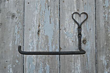 BELLISSIMO handforged FERRO BATTUTO Shaker cuore Toilet roll holder Folk Art