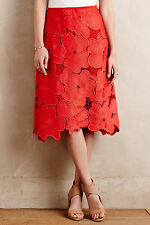 Anthropologie Women's Lace Bouquet Skirt Size 6 Nwt !!