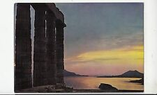 BF30569 sounion sunset from the poseidon temple greece  front/back image