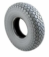 New Mobility Scooter Tyre & Tube  330x100 400x5 Grey Diamond Block Tread