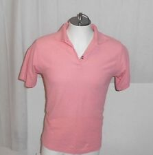 C.B. CASUALS MEN'S VIBRANT SHORT SLEEVE PINK POLO-STYLE SHIRT: LARGE- CHEST 40""