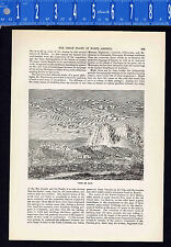 Town of Zuni, New Mexico  - 1880 Wood Engraved Page of History