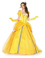 Deluxe Belle Costume Ladies Cosplay Princess Fancy Dress Sizes 8/10/12/14/16/18