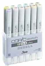 COPIC SKETCH MARKER PENS - 12 SET - EX-4 EXTENSION 4 - GRAPHIC ART MARKERS