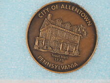 LEHIGH COUNTY PA BICENTENNIAL 1776-1976 COIN CITY OF ALLENTOWN TROUT HALL 1770