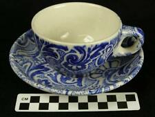 Vintage Scammell Lamberton Blue Paisley Cup & Saucer Restaurant Hotel China (HH)