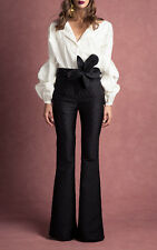 Johanna Ortiz NWT Anna Beth Voluminous Sleeves Embroidered Cotton Twill Shirt 0