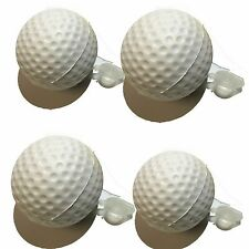 FOUR Fake Golf Ball Sneaky Geocache Container Logged Ready to Hide White