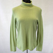 Macy's Charter Club 2-Ply 100% Cashmere Sweater Soft Pale Green Turtleneck Large