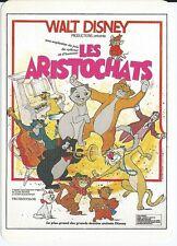 """CPM -Carte postale WALT-DISNEY Affiche de film"""" LES ARISTOCHATS """" carte toilée"""