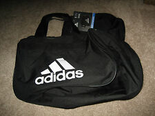 New Adidas Diablo Small II Duffel Gym Bag Black White - Lifetime Warranty