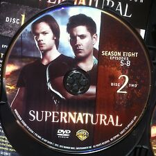 Supernatural Season 8 Disc 2 Replacement Disc  DVD ONLY