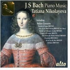 Nikolayeva Tatiana: Plays Bach Piano Mu - Tatiana Nikolayeva (2013, CD NEUF)