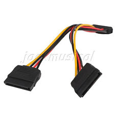 15 Pin SATA Male to 2 SATA Female Splitter Power Cable Extension Adapter