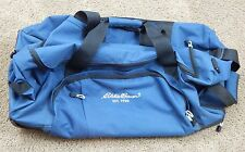 L.L. Bean Large Blue Rolling Canvas Bag Luggage Weekend Carry-on Travel