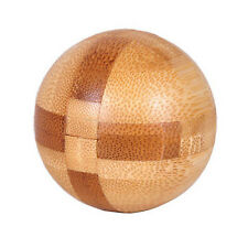 Magic Ball Sphere Bamboo 3D Wooden Construction Puzzle Wood Brain Teaser Toy