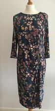 NEW M&S LADIES  SIZE 18 LOVELY JERSEY DRESS WITH STRETCH BLUE MIX