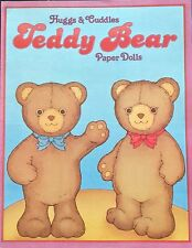 Huggs and Cuddles Teddy Bear Paper Doll Book, Uncut 1984, 16 Pages
