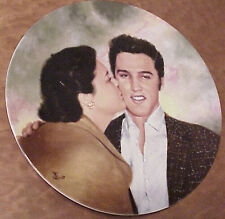 """Elvis Presley - and Gladys 8.5"""" by Bruce Emmett 1990 Collector Plate F-562"""