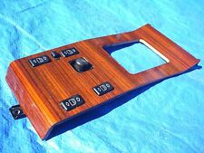 86-95 MERCEDES W124 E-CLASS 260 300 320 ZEBRANO WOOD TRIM CONSOLE 6 SWITCHES