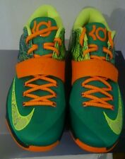 New Mens kd vii basketball shoes Kevin Durant (Green and orange Miami Hurricanes