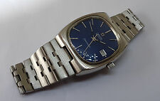 USED VINTAGE OMEGA SEAMASTER BLUE DIAL DATE AUTO MAN'S WATCH
