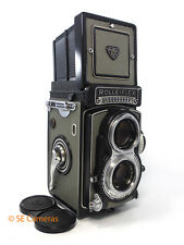 ROLLEI ROLLEIFLEX GREY T K8 T1 METERED CAMERA TESSAR F3.5 75MM LENS NEAR MINT