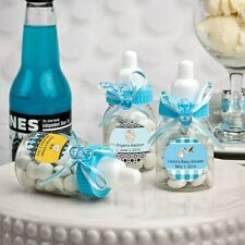100 - Personalized Blue Baby Boy Bottle Shower Favor - Free US Shipping