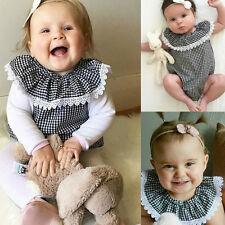 Newborn Infant Baby Girl Bodysuit Cotton Romper Jumpsuit Outfits Sunsuit Clothes