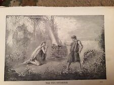 u1-3 ephemera 1890 religious book plate the two offerings
