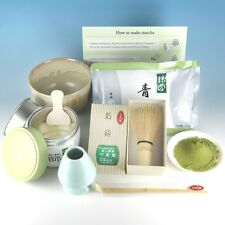 Japanese Tea Ceremony Starter Manual Set Matcha Powder Japan Chasen Whisk Bowl