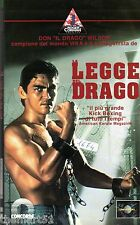 "LA LEGGE DEL DRAGO  (1991) VHS CIC  Video - Don ""The Dragon"" Wilson Oley Sassone"