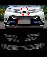 Front Grille Around Trim for 2013-2015 Toyota RAV4 Full Set Stainless Steel 5PCS