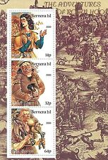 THE ADVENTURES OF ROBIN HOOD BERNERA ISL 2000 MNH STAMP SHEETLET