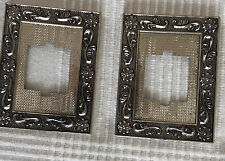 2 X Vintage Light Switch Cover Cast Metal Wall Plate plug Victorian like 1 PAIR
