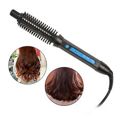 2 in 1 Tourmaline Ceramic Electric Hair Brush Curling Iron Curler Straightener
