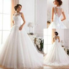 New White Ivory Wedding Dress Bridal Gown Bride Proms Party Deb Custom Size