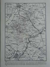 WW1 WAR MAP MESSINES RIDGE AND WYTSCHAETE YPRES