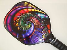 SUPER NEW PICKLEBALL PADDLE WIDEBODY PICKLEBALL BLUE SWIRL FRACTAL W400
