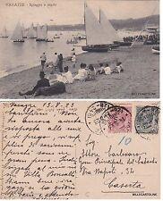 # VARAZZE:  SPIAGGIA E REGATE    1923