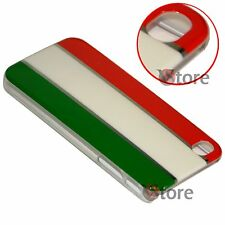 Cover Custodia Per iPhone 4 4S Bandiera Italia Cromature + Pellicola Salva LCD