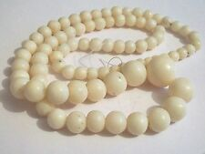 ANTIQUE ART DECO NATURAL WHITE CORAL BEAD NECKLACE