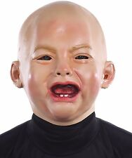 CRYING BABY FUNNY HALLOWEEN CREEPY REALISTIC MASK PARTY PROP DECORATION