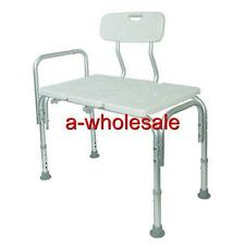 BATHTUB TRANSFER BENCH WITH BACK & SHOWER TRANSFER SEAT WITH ADJUSTABLE HEIGHT