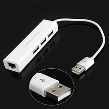 USB 2.0 to Ethernet RJ45 Lan Internet 10/100Mbps Data Converter Adapter Cable #F